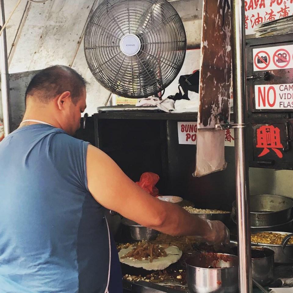 Bunga Raya Popiah Alpha Weekend food hunting in Melaka