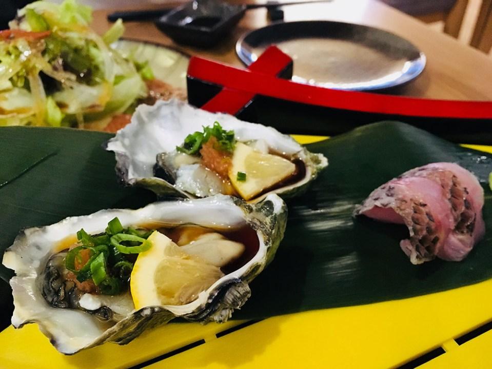 Ryoshi Izakaya Signature Kampachi and Salmon Sashimi