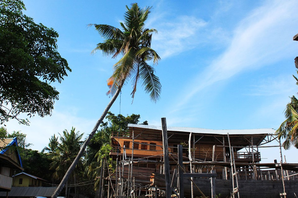 Pinisi Ship in the making at Tanjung Bira beach holiday Indonesia