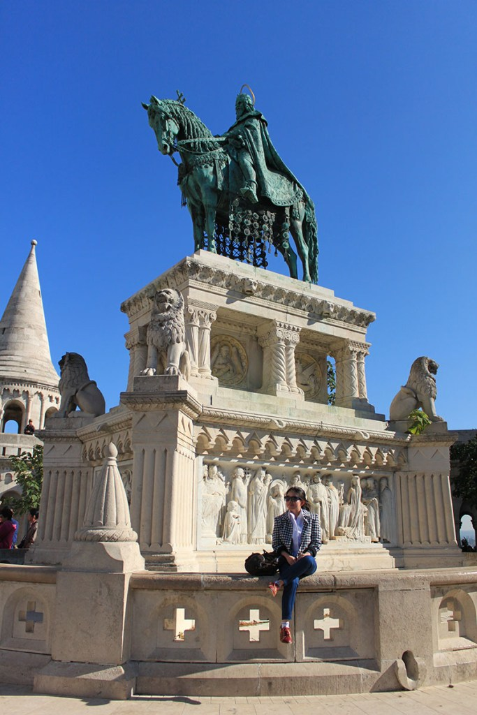 agirlnamedclara female traveler fisherman bastion budapest hungary