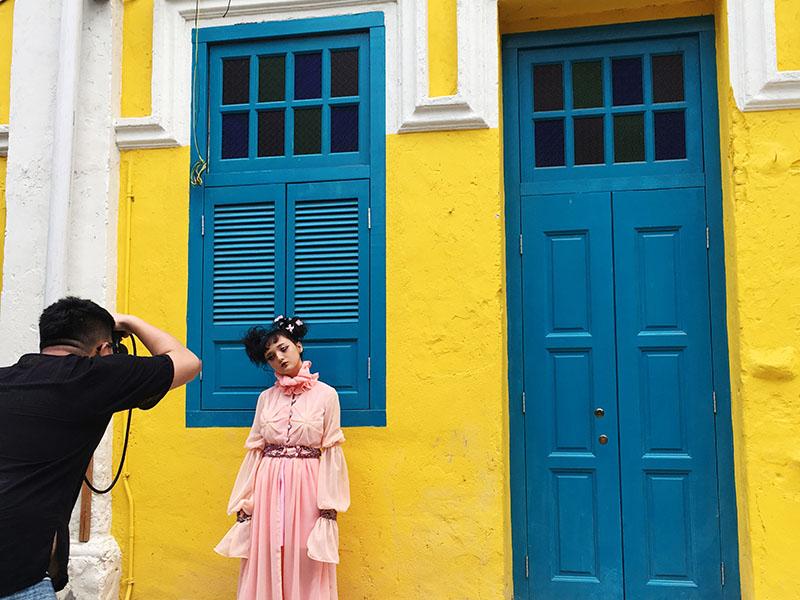 agirlnamedclara lorong panggong chinatown kl model chinese ghost costume halloween photoshoot photographer