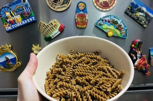 wholemeal fusilli pasta fibre healthy fridge magnet wanderlust around the world agirlnamedclara