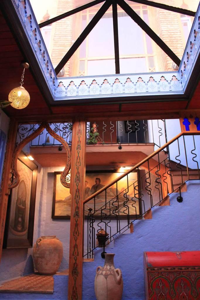 darechchaouen chefchaouen morocco staircases blue glass roof morocco_agirlnamedclara
