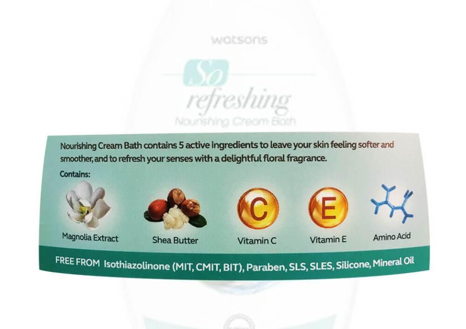 agirlnamedclara Watsons so refreshing nourishinh cream bath ingredients