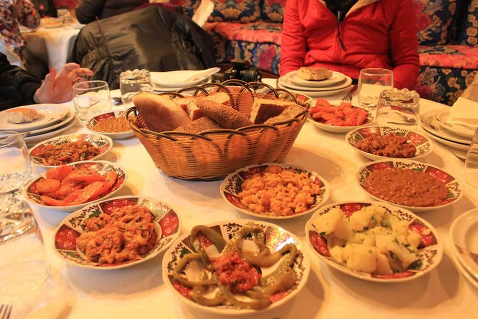 various local food on the table morocco agirlnamedclara