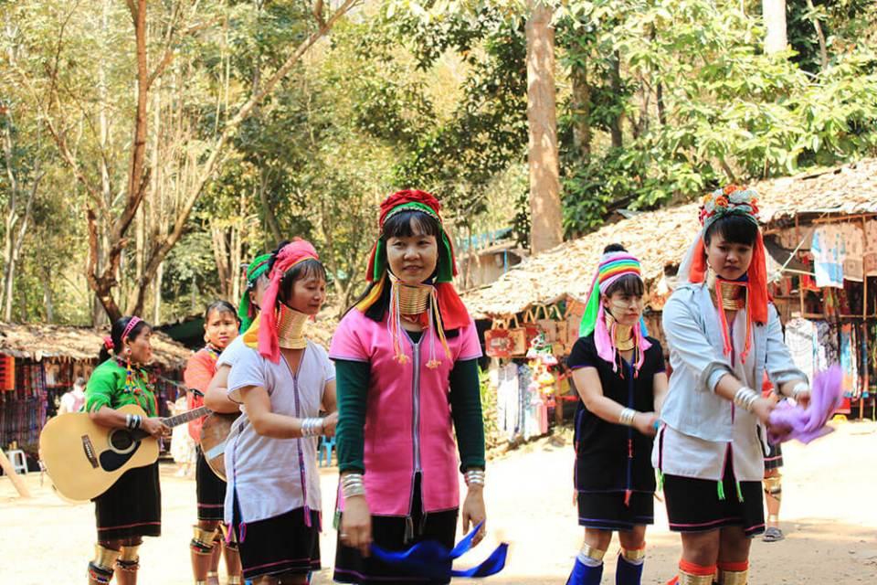 long neck village chiang mai local women dance performance agirlnamedclara