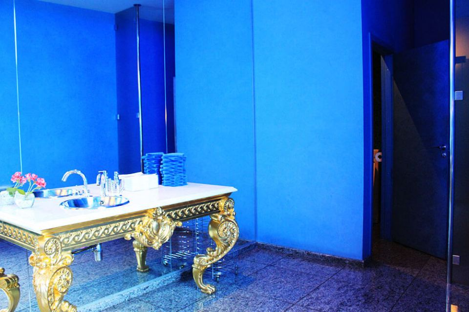 gold dressing table blue toilet Palkin Restaurant St Petersburg Russia agirlnamedclara