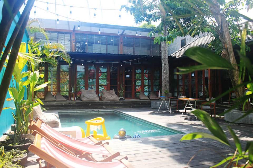 socialista lifestyle hostel seminyak bali morning pool room view agirlnamedclara