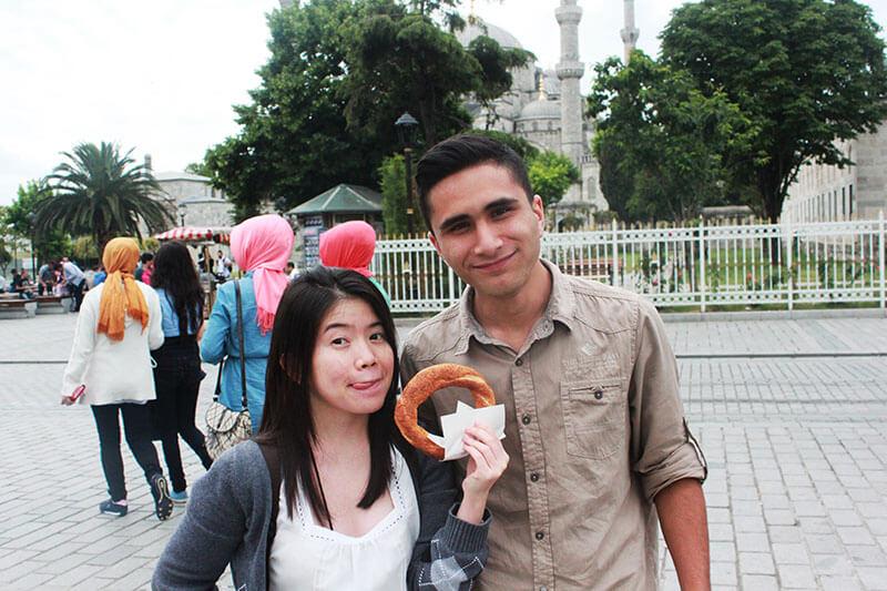 asian girl long black hair pretzel turkish man standing turkey_agirlnamedclara