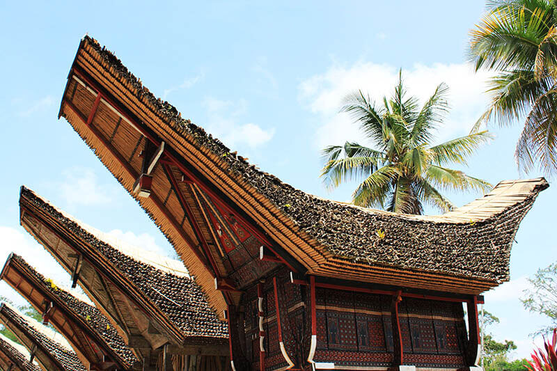 close up tongkonan kete kesu toraja indonesia travel blue sky_agirlnamedclara