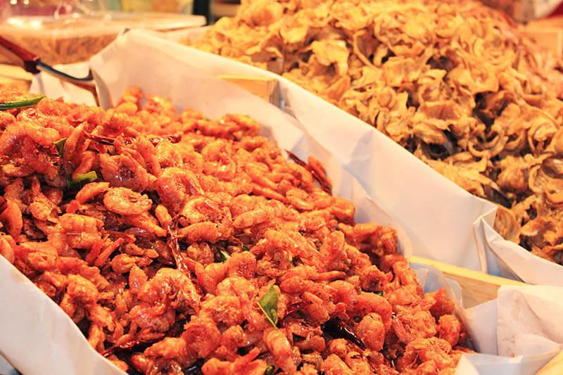 deep fried shrimp snack thailand chiang mai_agirlnamedclara