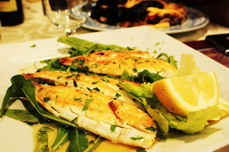 grilled fish with rocket olive oil lemon tico tico ristorante sorrento italy agirlnamedclara