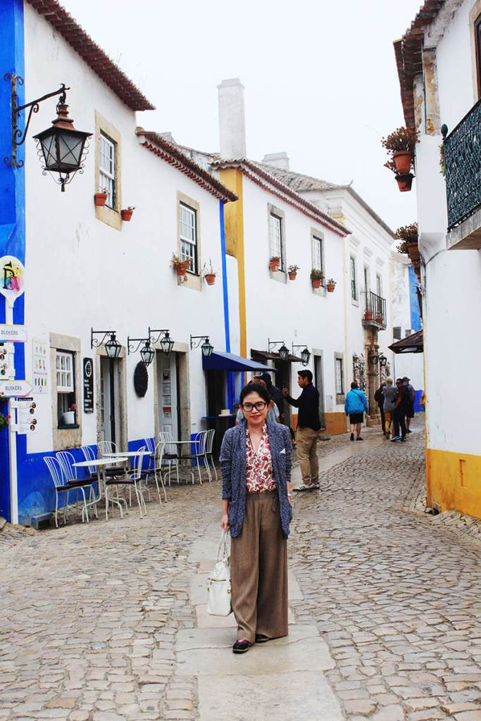 asian girl tomboy zara fashion obidos cobbled street portugal agirlnamedclara