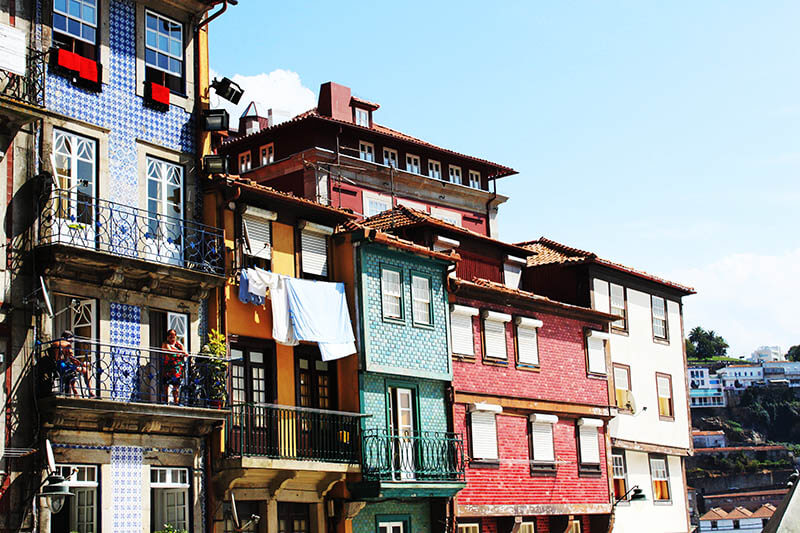 colourful houses in porto portugal agirlnamedclara