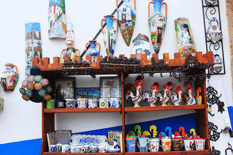 souvenir porcelain obidos portugal agirlnamedclara