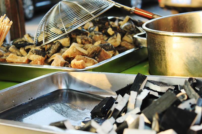 stinky black tofu before and after fried street snack houhai beijing agirlnamedclara