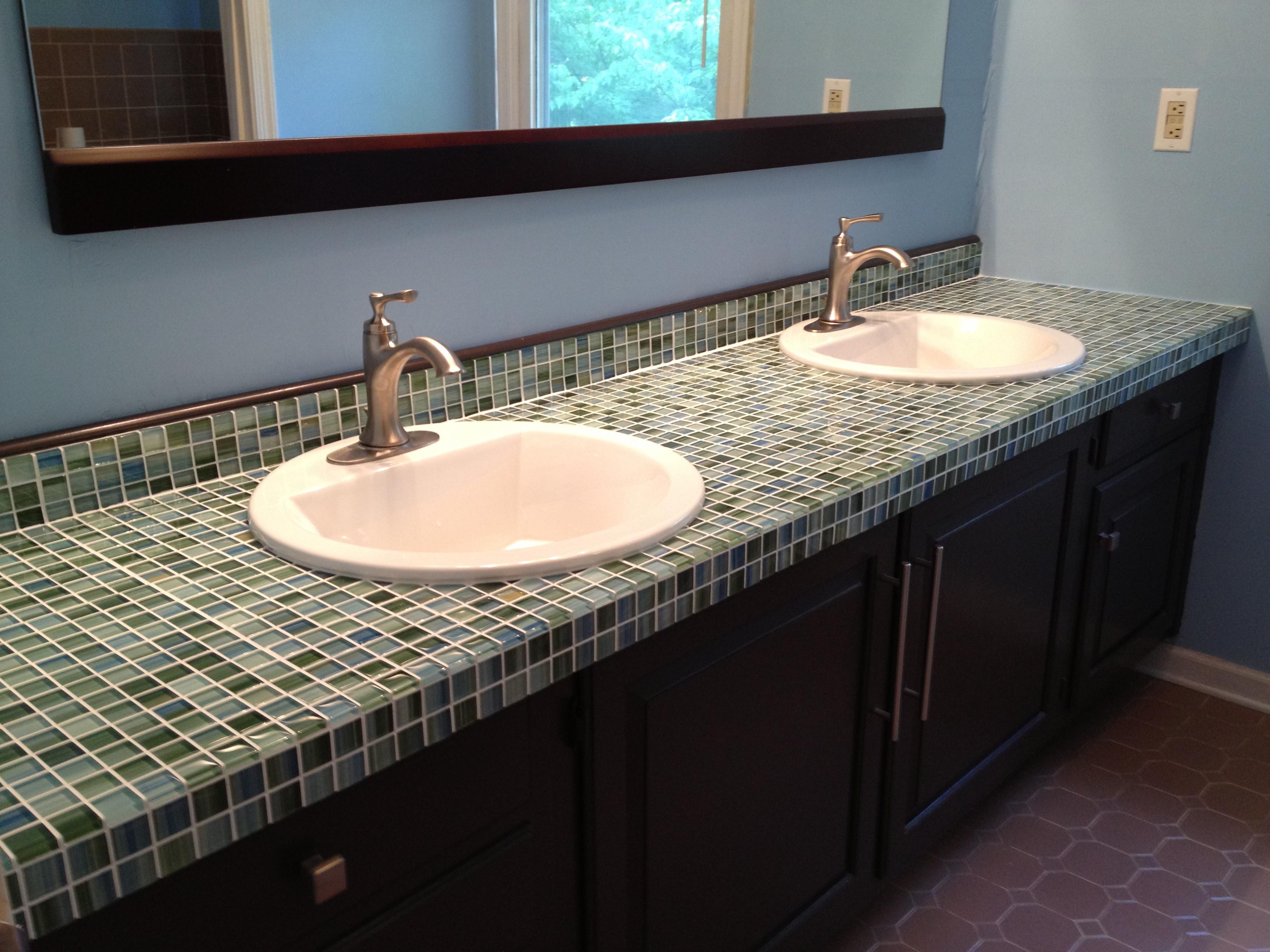 glass mosaic countertop
