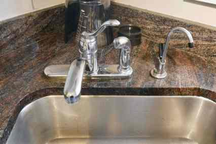 old faucet and reverse osmosis filter faucet