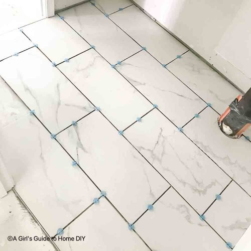 correct 1st floor bath tile