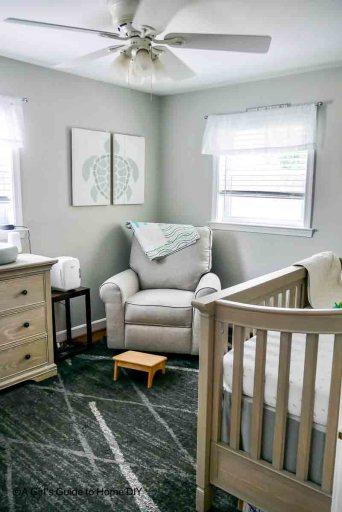grey nursery chair