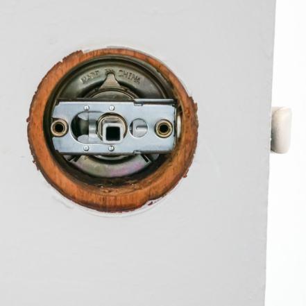 latch of door knob