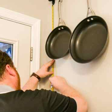 measuring to install pot racks