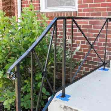 painted porch railings