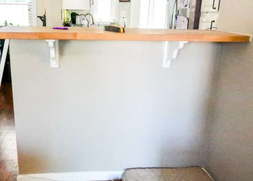 before picture of the breakfast bar