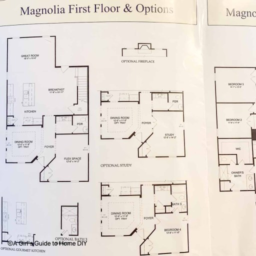 print out of model home plans