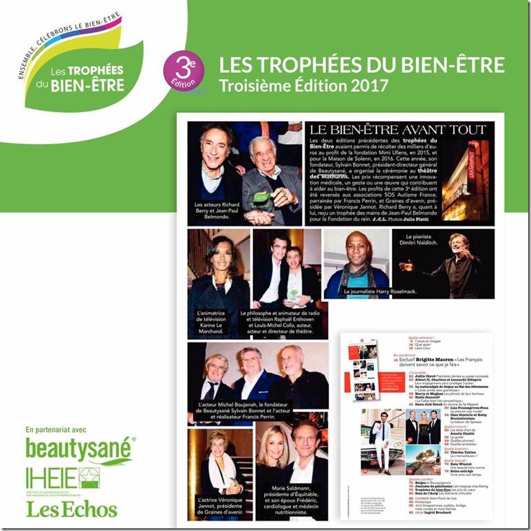 Article Trophées du Bien-Etre 2017