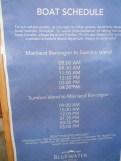 boat schedule