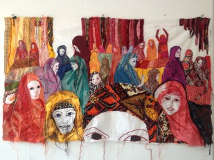 SOUK / sewing fabric on cotton / 150x90 cm / 2013