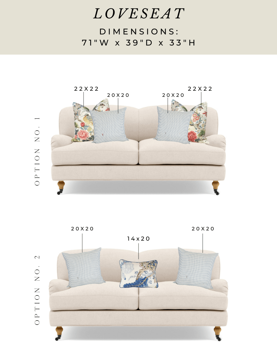 pillow talk sizing guidance for