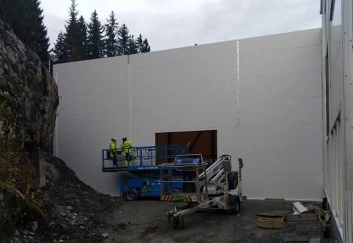Her er veggene på plass
