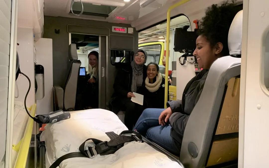 Vg1 HO testet ambulansen