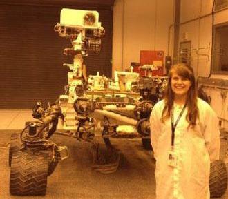 Marie McBride as a NASA intern at the Jet Propulsion Laboratory in Pasadena, CA