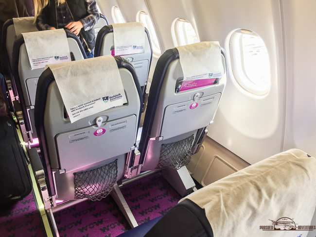 WOW Air Cabin Iceland