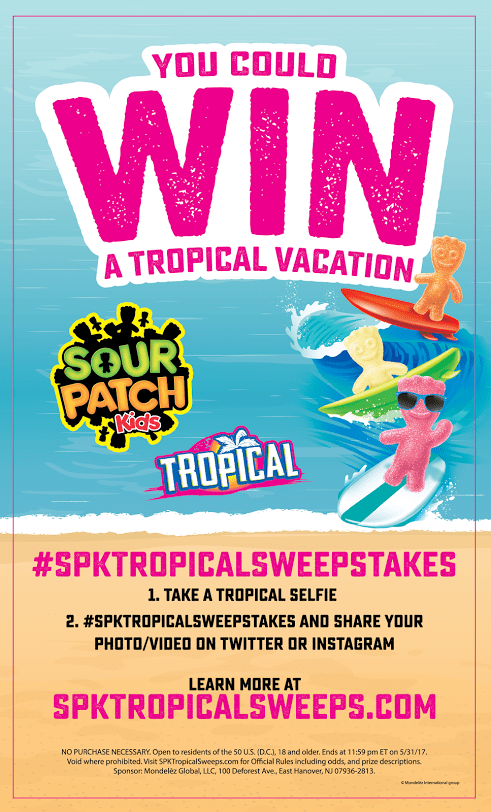 Sour patch tropical sweepstakes