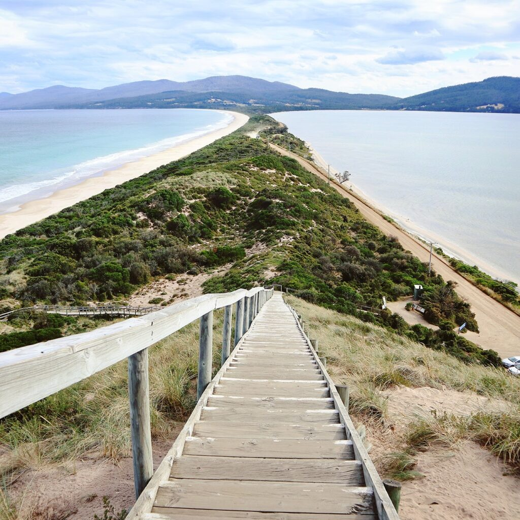The Neck at Bruny Island in Tasmania