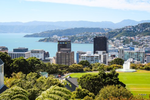 Views of Wellington from the Botanic Gardens, New Zealand