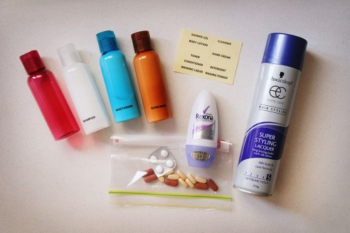 Packing lightly - toiletries