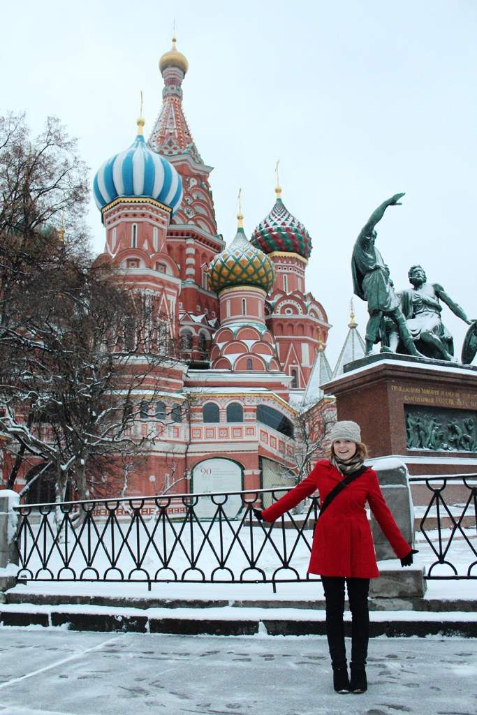 Winter at St Basils Cathedral in Moscow