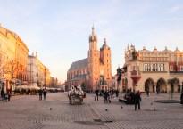 Market Square in Krakow, Poland