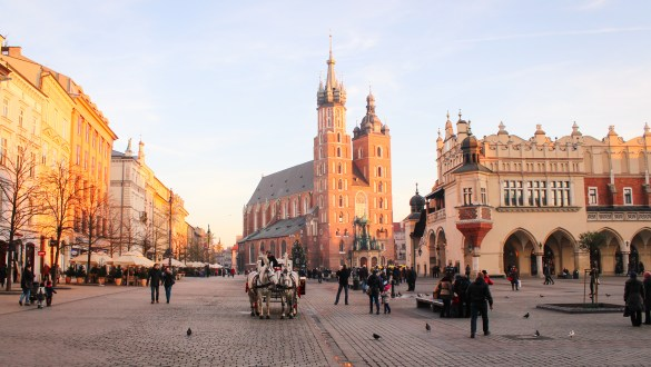 Market Square in Krakow, Poland