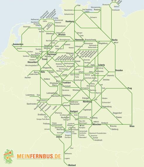 Meinfernbus Map