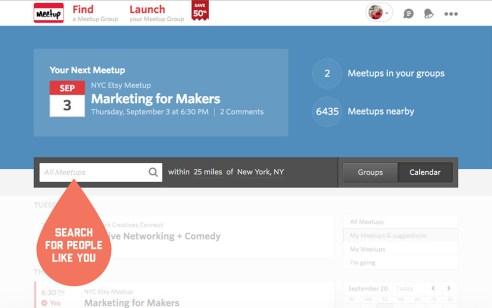 Networking through meetup.com