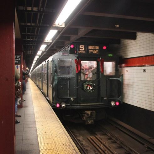 Christmas train in New York City