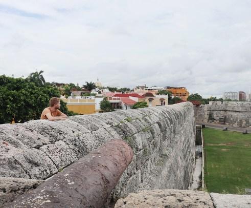 Sea wall in Cartagena, Colombia