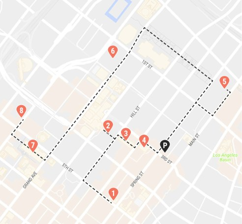 Los Angeles Self Driving Tour Map