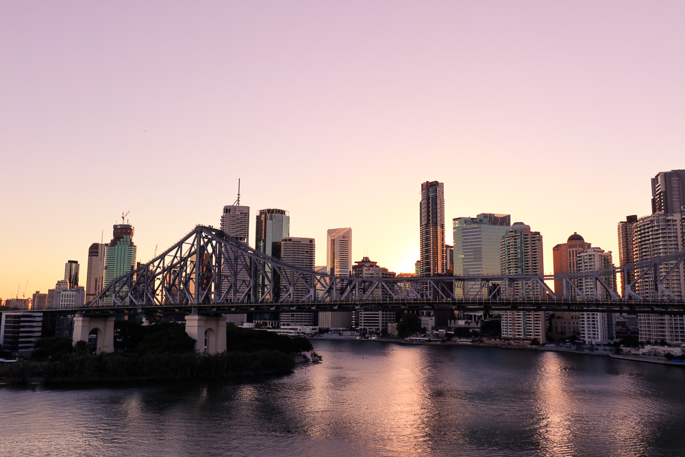 Brisbane skyline from Wilson Outlook Reserve